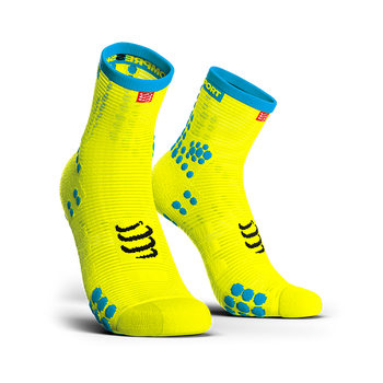 COMPRESSPORT PRO RACING SOCKS V3.0 RUN HI - FLUO YELLOW
