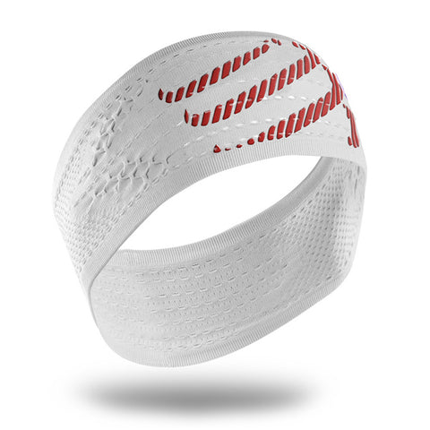 COMPRESSPORT ON/OFF HEADBAND - WHITE