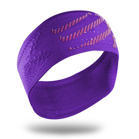 COMPRESSPORT ON/OFF HEADBAND - PURPLE