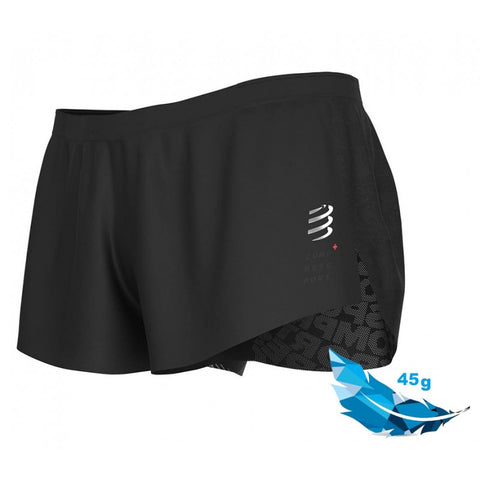 COMPRESSPORT RACING SPLIT SHORT M - BLACK