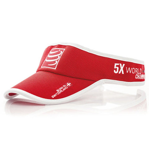 COMPRESSPORT ANTI SWEAT RUN VISOR - RED