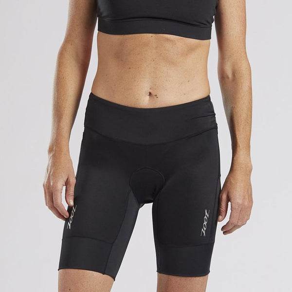 "ZOOT WOMENS CORE TRI 8"" SHORT - BLACK"