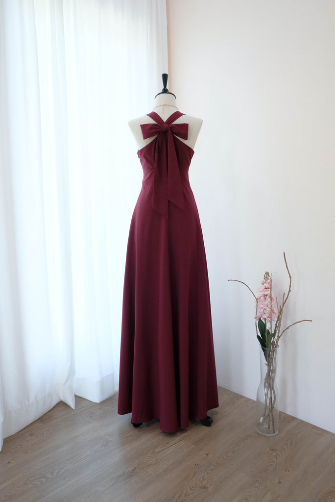 LILIAN Burgundy dress