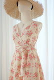 ROSE White Floral dress