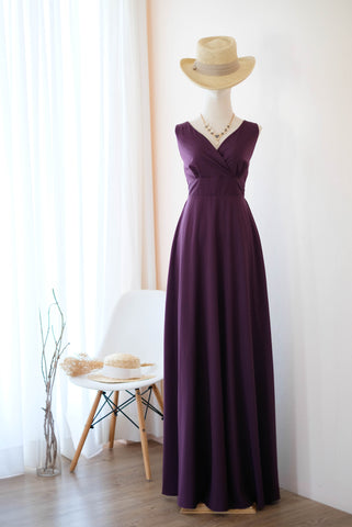 MY LADY Purple Plum dress