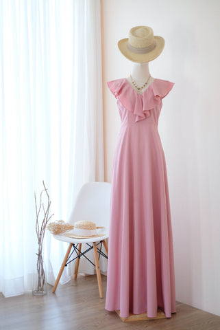 AVERY Pink Nude dress
