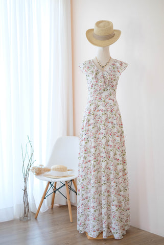 AVERY White Floral dress