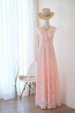 AVERY Pink Lace dress