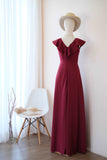 AVERY Burgundy dress