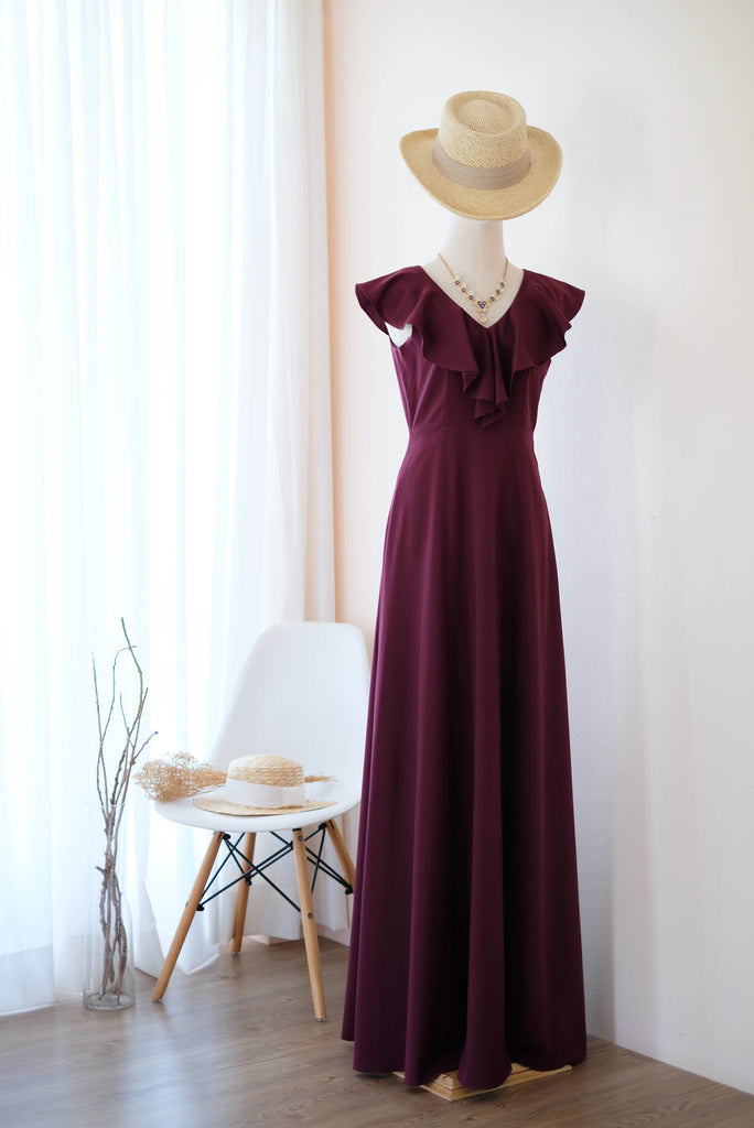 AVERY Maroon dress