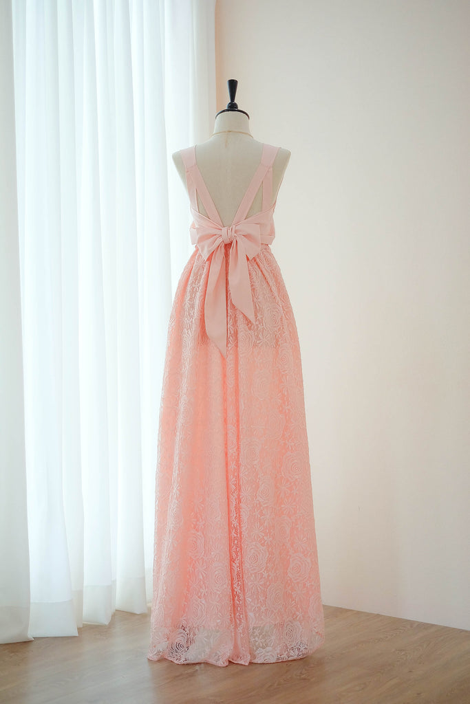 VALENTINA Pink Lace Dress