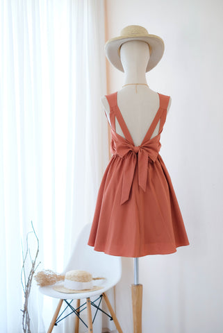KATE Rust orange Dress