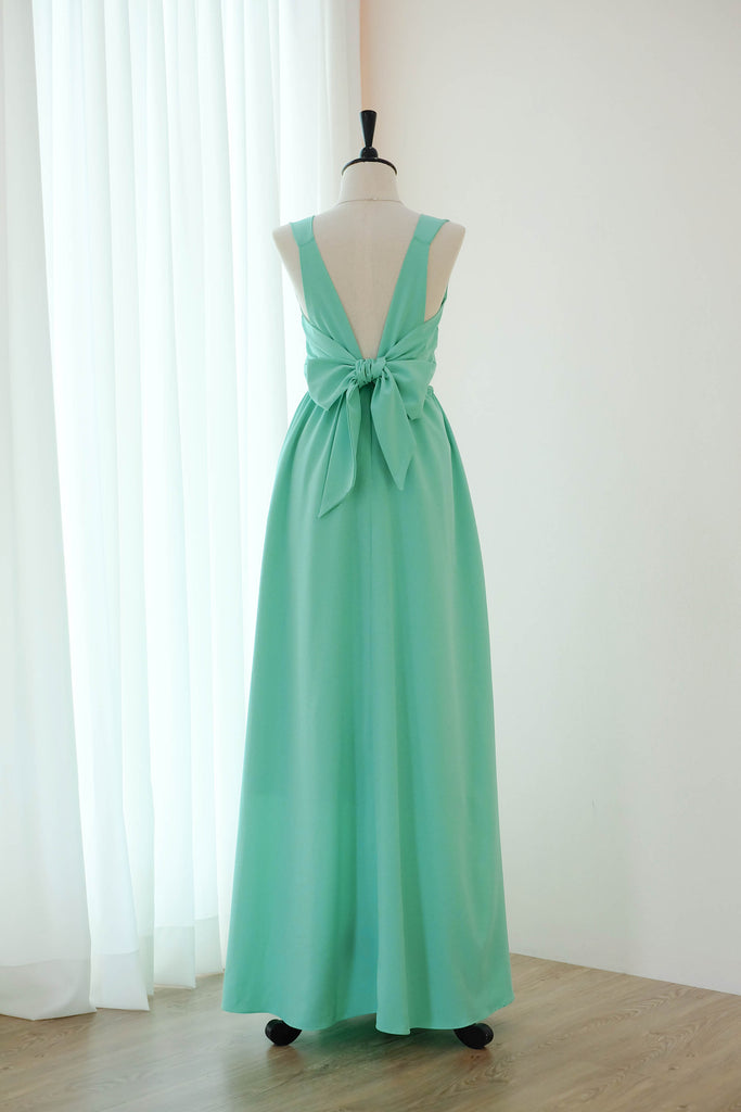 Mint green floor length bridesmaid dresses - KEERATIKA BAKE