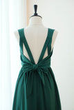 Dark forest green floor length bridesmaid prom dresses - KEERATIKA KATE