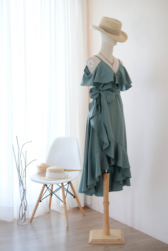 ROSE Earthy Sage Green dress