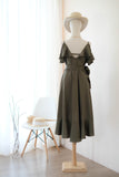 ROSE Olive Green dress