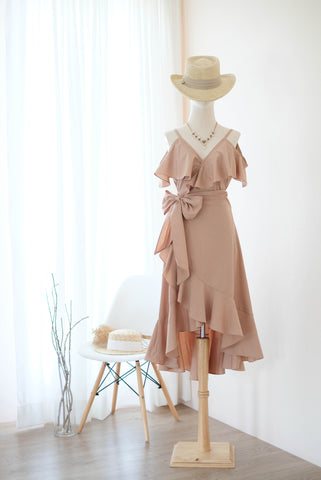 ROSE Taupe dress
