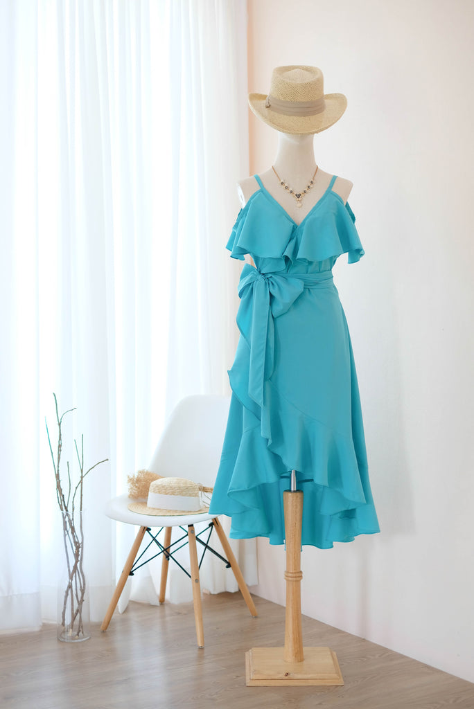 ROSE Turquoise blue dress