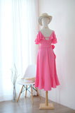 ROSE Flamingo Pink dress