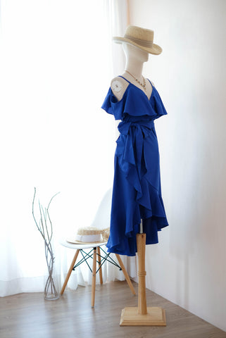 ROSE Royal blue dress