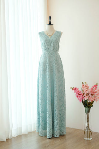 VALENTINA Sage Green Lace Dress