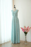 Sage green lace floor length party long cocktail bridesmaid dresses - KEERATIKA VALENTINA