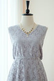 VALENTINA Gray Lace Dress