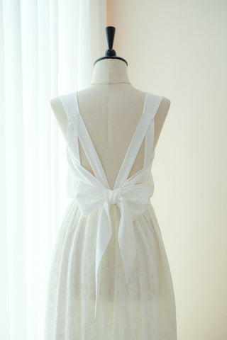 VALENTINA Off White Lace Dress