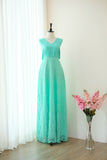 VALENTINA Mint Green Lace Dress
