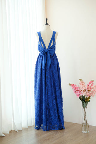 VALENTINA Royal Blue Lace Dress