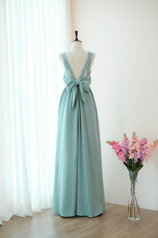 VALENTINA Dusty sage green Dress