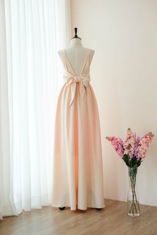 VALENTINA Peach Dress