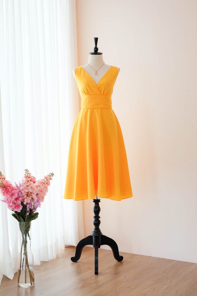 Yellow vintage bridesmaid dresses - KEERATIKA MY LADY