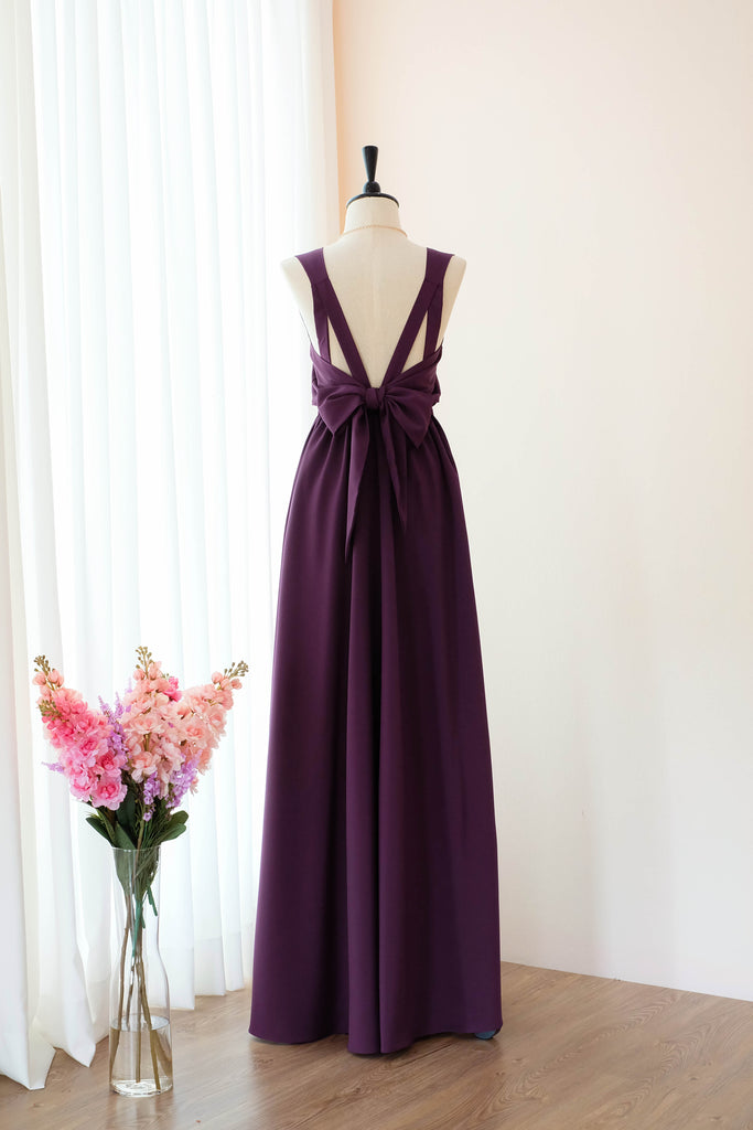 VALENTINA Plum Dress