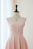Pink blush bridesmaid square neck bridesmaid dresses - KEERATIKA VALENTINA