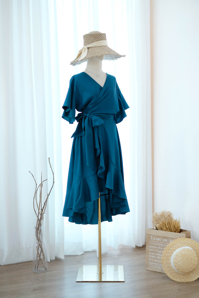 ROSE Midnight Blue wrap dress