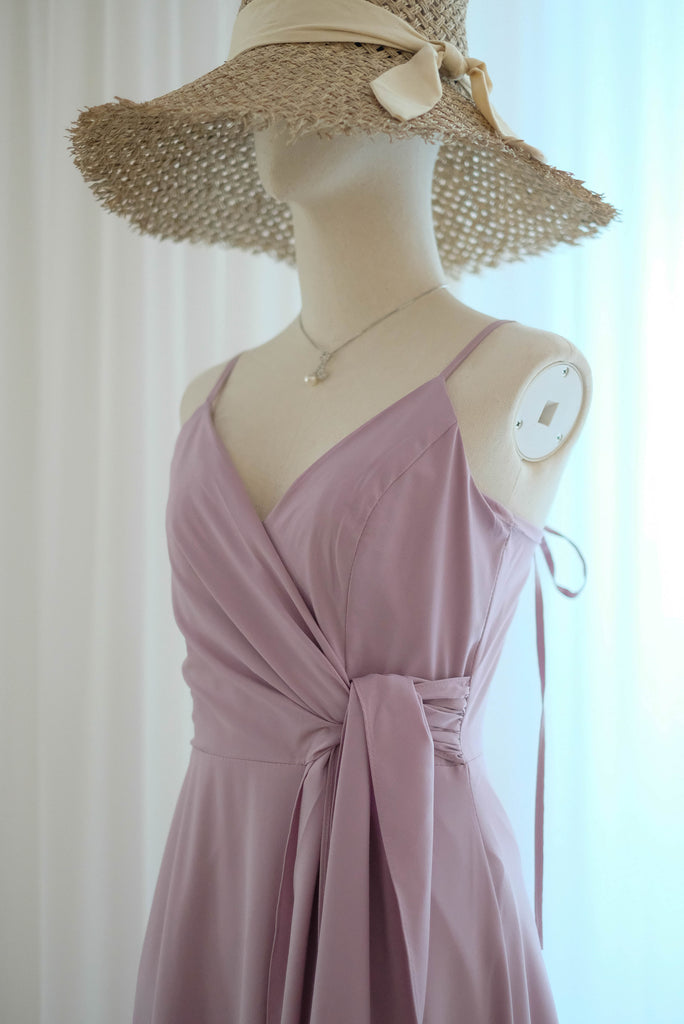 Pink blush bridesmaid dress Vintage party tea dress