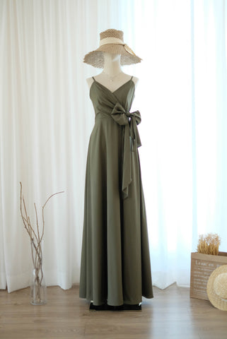 LINH Olive Green dress