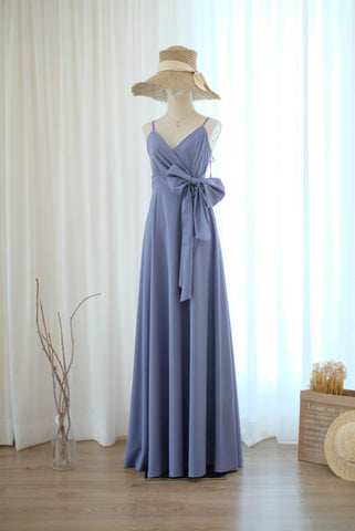 LINH Grayish Blue dress