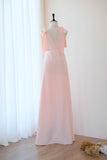 Pink blush dress Pink blush Long bridesmaid dress Wedding dress Bridal dress Floor length dress