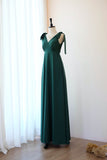 Forest green dress Dark green Long bridesmaid dress Wedding dress Bridal dress Floor length dress