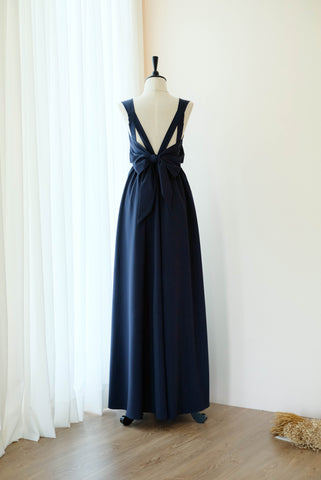 VALENTINA Navy Dress