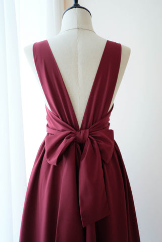 VALENTINA Burgundy dress