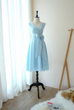 MY LADY Powder blue dress