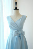 SALE blue gingham cross back dress