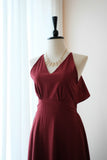 VANESSA Burgundy Dress