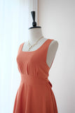 VALENTINA Rustic Orange dress