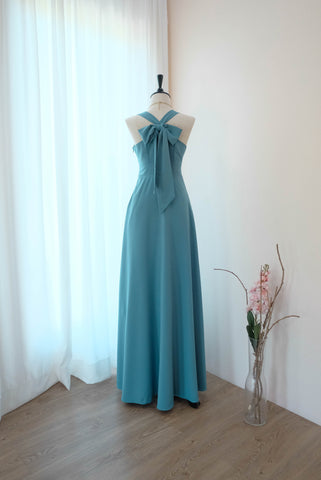 LILIAN Rustic blue dress