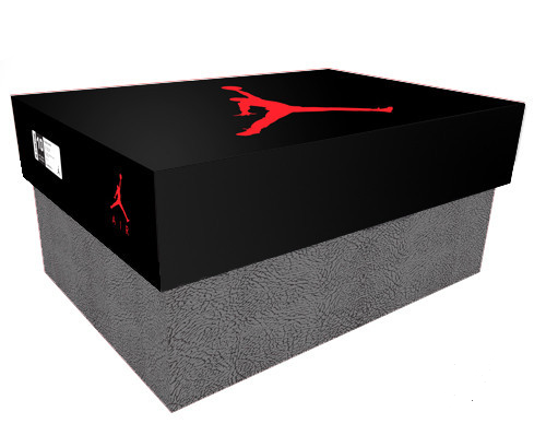 Jordan 3 Giant Shoe Box Drawer Black/Grey Free Shipping - Sole Alley