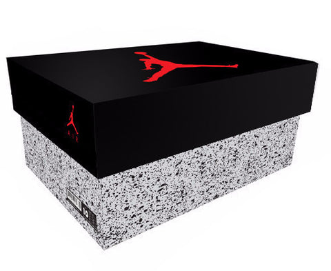 Jordan 5 Giant Shoe Box Drawer Black/Grey Free Shipping - Sole Alley
